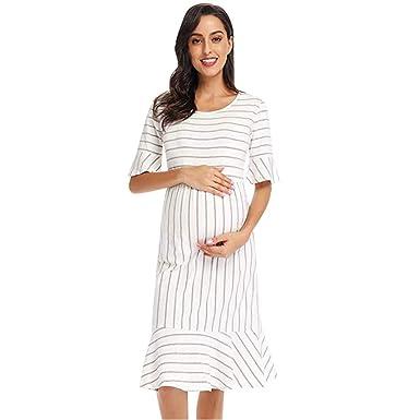 Vestidos para Mujeres Embarazadas, SUNNSEAN Vestido Mangas ...