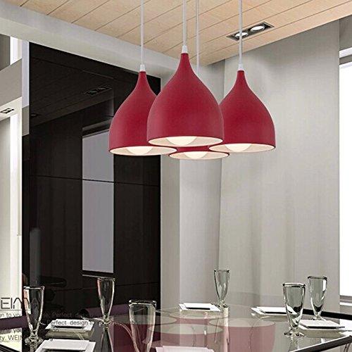 Red Aluminum Pendant Light in US - 5
