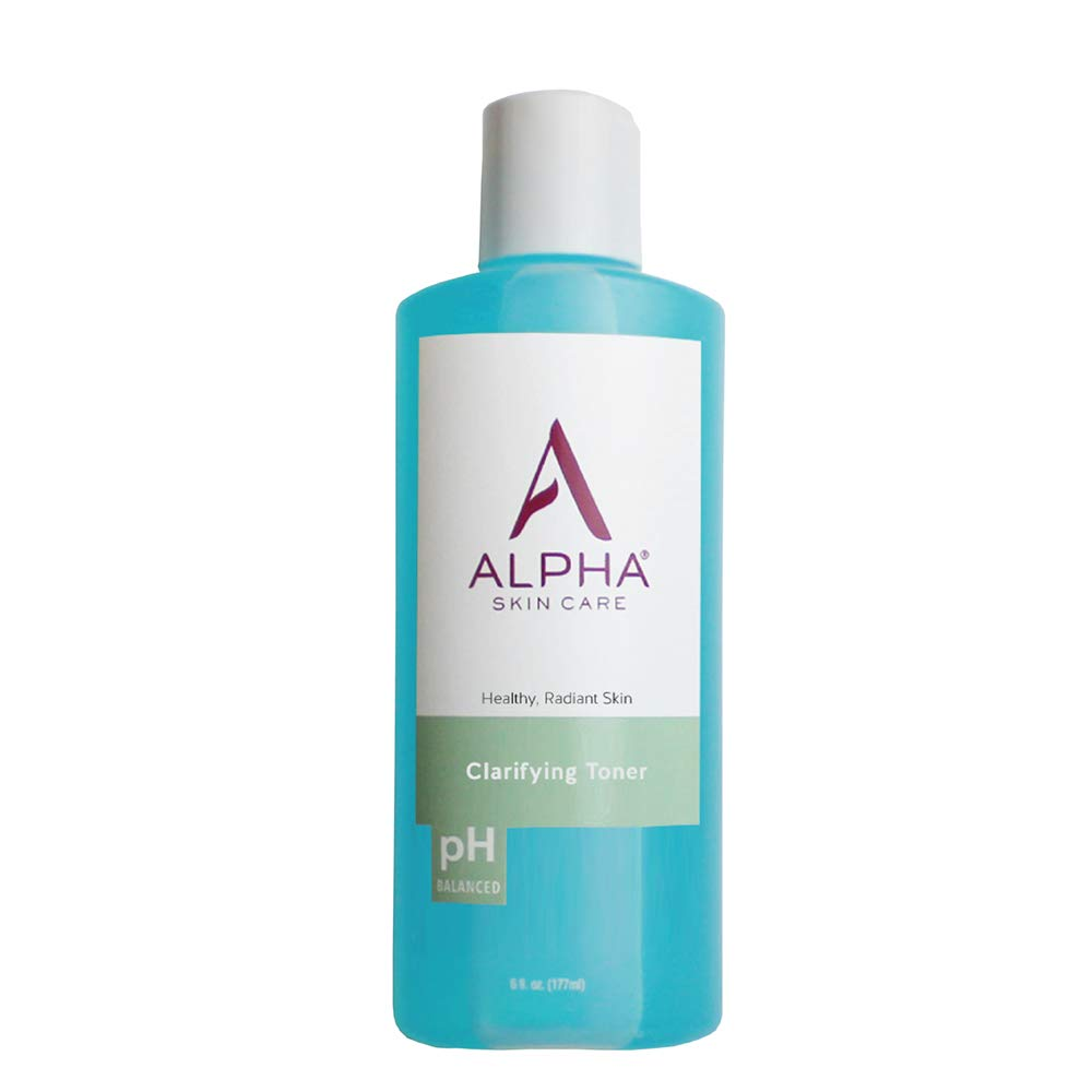 Alpha Skin Care Clarifying Toner   Anti-Aging Formula   Glycolic Alpha Hydroxy Acid (AHA)   Supports Collagen Production   Balances Natural Oils   For Normal to Oily Skin   6 Fl Oz