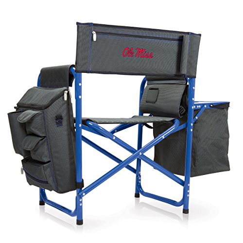 NCAA University of Mississippi Rebels Digital Print Fusion Chair, Dark Grey/Blue, One Size by PICNIC TIME