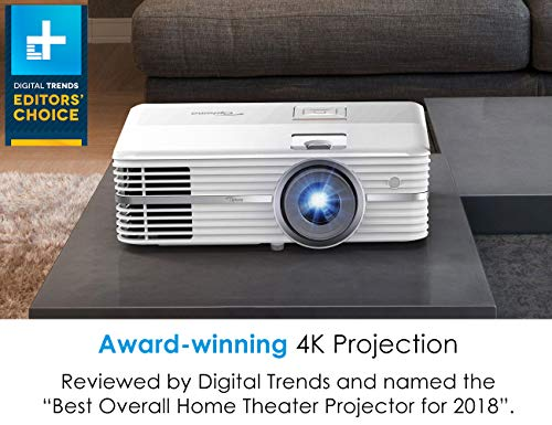 Optoma UHD50 True 4K Ultra High Definition DLP Home Theater Projector for Entertainment and Movies with Dual HDMI 2.0 and HDR Technology