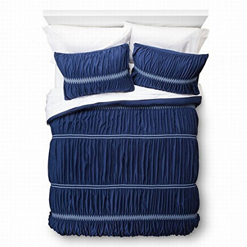 Xhilaration Twin XL Navy Blue Sheared Ruched Comforter &