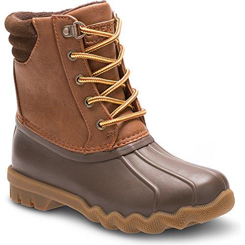 [Sperry Avenue Duck Boot (Little Kid/Big Kid), Brown/Tan, 7 M US Big Kid] (Brown Boots For Kids)