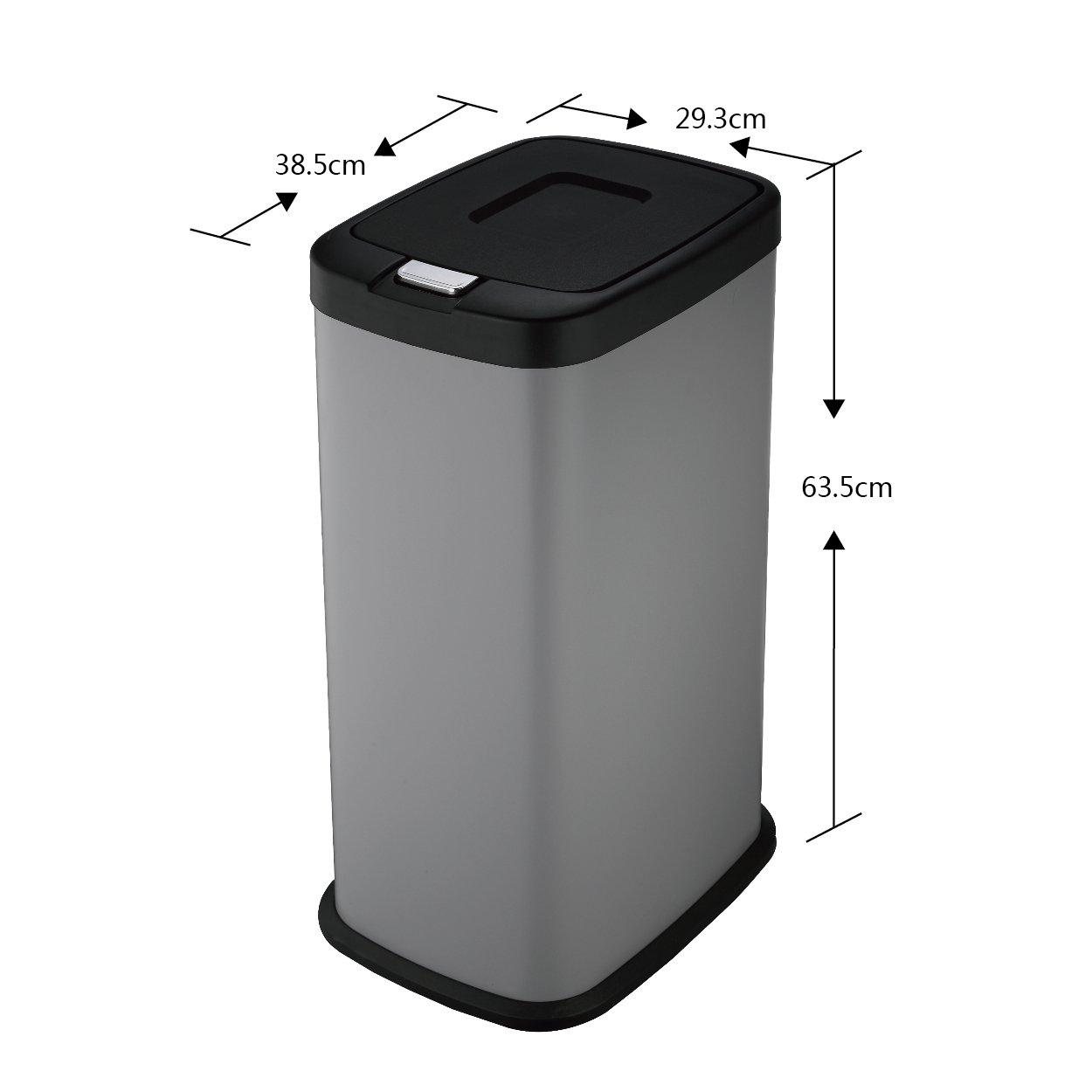 Harima Mülleimer | Abfallbehälter Küche 38L Grau Farbe Abfalleimer ...