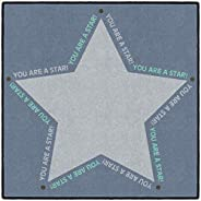 "Flagship Carpets You are a Star Kid's Floor Seating 30"" Square Rug for Social Distance Learning, Read"