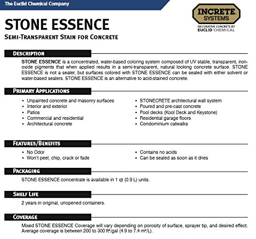Amazon Stone Essence Concrete Stain Black Kitchen Dining