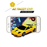 KaiTai Yellow AR Racer A Real fly Car On Mobile With Lights,Vibration,Jumping Real Feel Virtual Reality Car Racing Gaming System and free Gaming App Mini Pocket Game Toy speed Car for Android,IOS