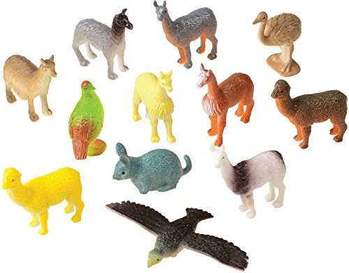 Set Of 12 Mini South American Animals Diorama Figures -