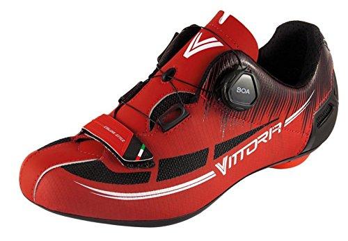 Chaussures De Vélo Vittoria Fusion Rosso / Nero 43 Eur 9 Us