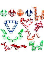 12-pack 24 block magisk ormkub, mini ormar snabbkuber twist pusselleksaker för barn festpåse fyllning, festgåvor