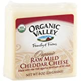 Organic Valley Organic Raw Mild Cheddar Cheese, 8 Ounce -- 12 per case.