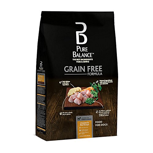 Pure Balance Grain Free DogFood Chicken & Pea Recipe Food for Dogs 4lbs