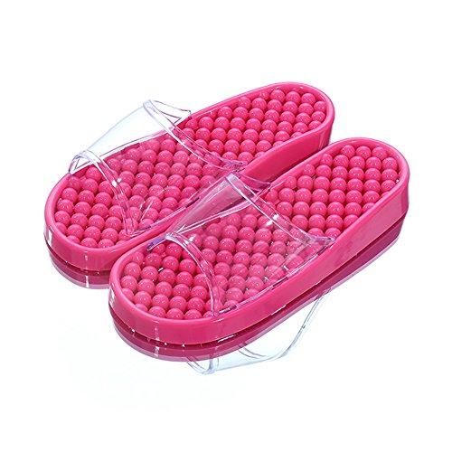 TELLW Badezimmer Hausschuhe für Männer und Frauen Indoor Home Points Pediküre Schuhe Paare Non-Slip Badezimmer Kühlen Sommer Hausschuhe Rose