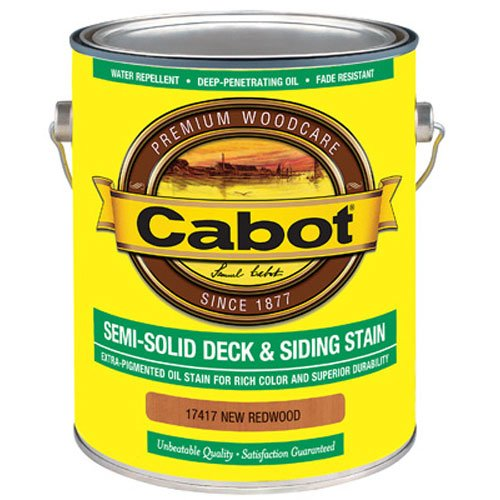 CABOT SAMUEL 17417-07 Redwood Semi-Solid Deck & Siding Stain (Cabot Semi Solid Stain)
