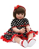 Ladora 23'' Soft Body Lifelike Adorable Doll with Moveable Arms Les for 6+ Children Dolly Toy AMC17013