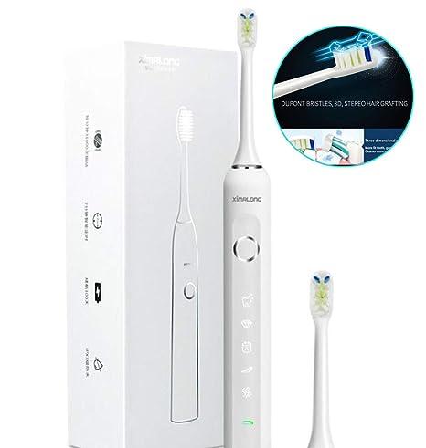 ZMH Sonic Cepillo De Dientes Eléctrico Impermeable Recargable USB 5 Modelos Cepillo De Dientes Ultrasónico De