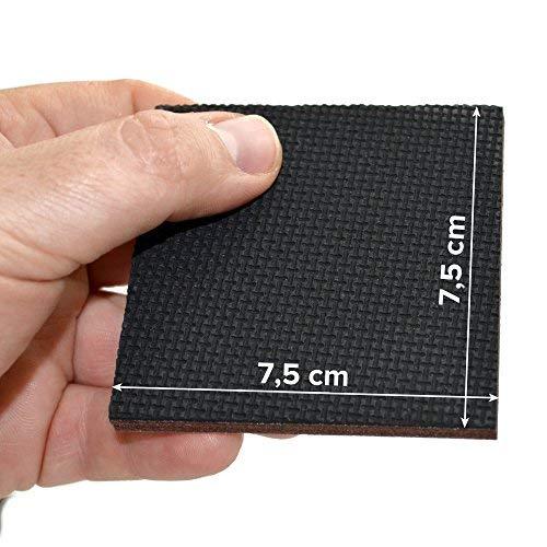 Patas de goma premium Protectores de piso X-PROTECTOR 12 Piezas 75 mm almohadillas antideslizantes /¡Deje que sus muebles se mantengan en su lugar! La almohadilla antideslizante de alta calidad