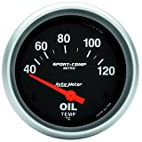 Auto Meter 3542-M Sport-Comp Electric Metric Oil Temperature Gauge