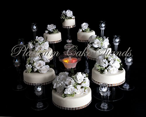 8 Tier Cascade Wedding Cake Stand and 8 Glass Votive Candle Set (STYLE R804) ()