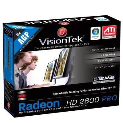 Amazon. Com: visiontek radeon hd 2600 pro 512mb agp graphics card.
