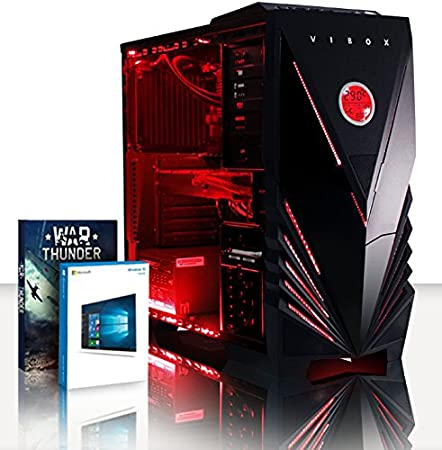 VIBOX Sniper PC Gaming Computer con Voucher di Gioco 4,2GHz Intel i5 Quad-Core Processore, Nvidia GeForce GTX 1060 Scheda Grafica, 8GB DDR4 RAM, 120GB SSD, 1TB HDD, Senza Sistema Operativo