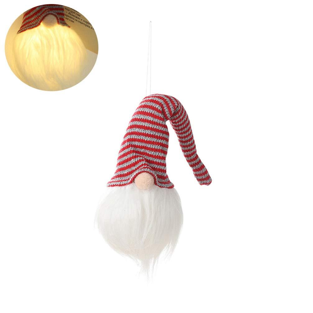 Happyyami 3 Piezas mu/ñeco de gnomo de Felpa de Navidad con luz Figuras de Duende de Navidad /árbol de Navidad Decoraciones Colgantes favores de Fiesta de Navidad Regalos