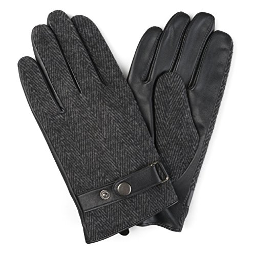 Daxx Mens Lined Fashion Leather Sheepskin Driving Gloves - Daxx Leather