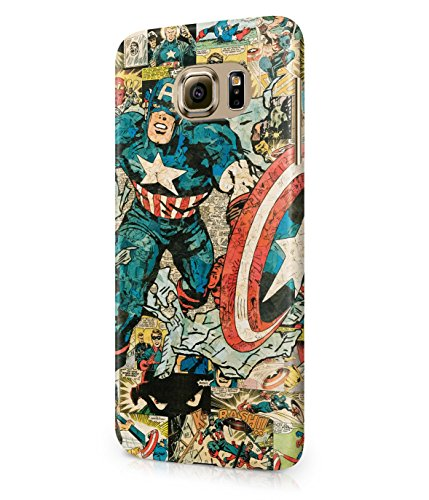 Captain America Comics The Avengers Superhero Plastic Snap-On Case Cover Shell For Samsung Galaxy S6