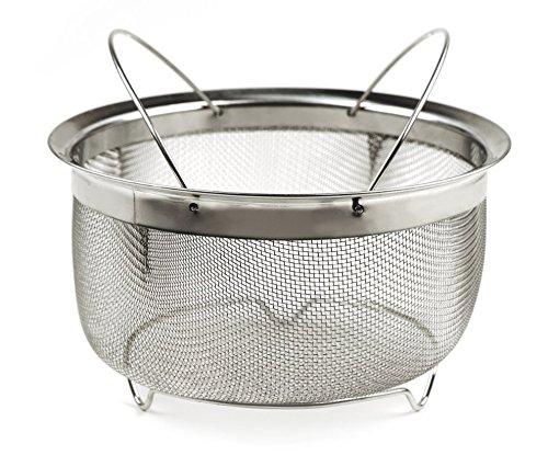 RSVP Endurance M8-FH Mesh Basket with Folding Handles, 3-Quart