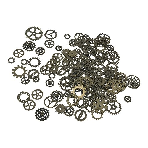 Kurios Cabinet Steampunk Gears & Cogs - 150 grams Vintage Copper Color (Makeup Halloween Hijab)