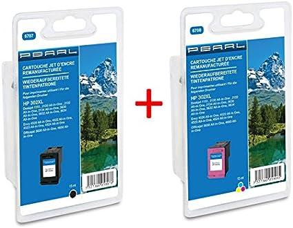 Pack Cartuchos reciclados HP 302 XL Negro + CMJ: Amazon.es: Oficina y papelería