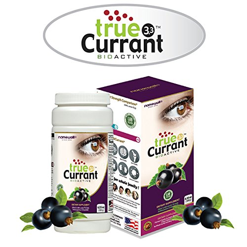 Nanowell true Currant 3.3 180g | Premium Quality European Blackcurrant Frozen Dried Powder | ORAC 2,400 umole TE, Anthocyanins 210mg from daily dose of trueCurrant 3.3