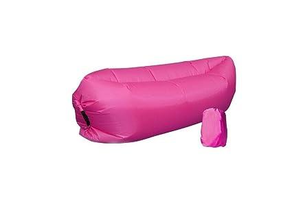 oisk® Lazy bag laybag saco de dormir rápido aire inflable camping playa de dormir sofá