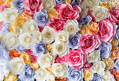 Yeele Paper Flowers Backdrops 7x5ft Paper Flowers Photography Background Paper Flowers Blossoming Flower Wedding Bridal Shower Pictures Baby Adult Artistic Portrait Photoshoot Props Wallpaper]()