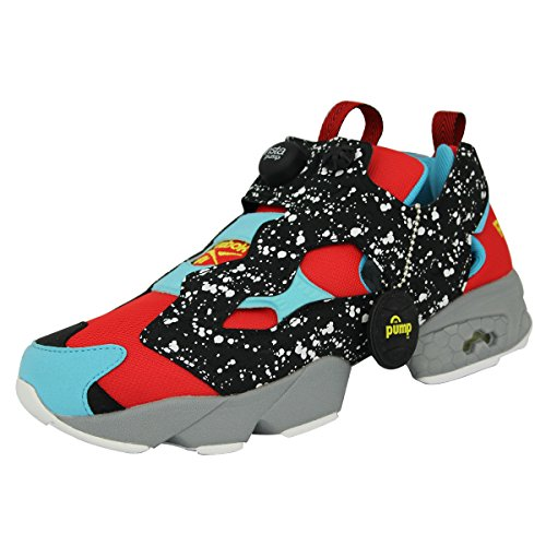 Shoes SP Sneakers Boys Fury Reebok Blue Grey Red Instapump V66114 Black qXxFwqEI