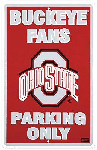 MMNGT Poster Revolution Ohio State Buckeye Fans Parking Only NCAA Tin Sign TIN Sign 7.8X11.8 INCH