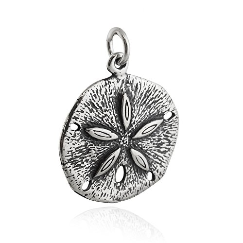 - Sand Dollar Charm - 925 Sterling Silver Beach Seashell Ocean Urchin Sea Cookie - Jewelry Accessories Key Chain Bracelets Crafting Bracelet Necklace Pendants