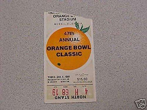 1981 ORANGE BOWL TICKET STUB Oklahoma/Florida St.
