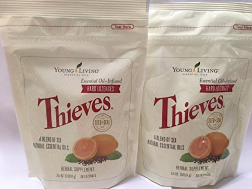 Thieves Hard Lozenges 30 ct (2 Packages) by Young Living Essential Oils by Young Living