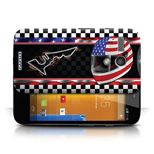 Etui / Coque pour Motorola MOTO G (2013) / USA/Austin conception / Collection de F1 Piste Drapeau