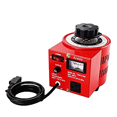 Anesty Variac Transformer Auto AC Variable Voltage Regulator Metered Output 500VA 5Amp 0-130V