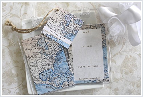 30 North American Map Luggage Tag Favors $1.50 ea.