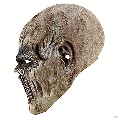 Halloween Zombie Head mask Scary Death Cosplay Evil Prop Alien Bloody Masks: Clothing