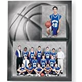 Basketball Player/Team 7x5/3.50x5 MEMORY MATES cardstock double photo frame sold in 10's - 5x7