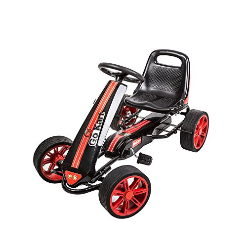 Car, Pedal Powered Ride On Toys for Boys & Girls with Adjustable Seat(Red) ()