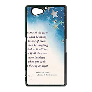 Animated Movie Le Petit Prince Phone Case Classic Quotes Series The Little Prince Pattern Design Sony Xperia Z2 Compact Plastic Durable Case Cover Anime Series
