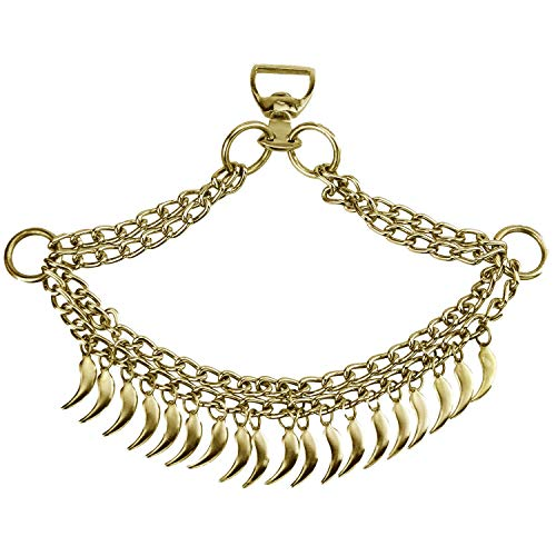 NileCart Native Egyptian/Arabian Horse Noseband Chains Dance Show Saddle tack (Golden Tone) -