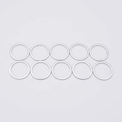 M16 Oil Drain Plug Gaskets Crush Washers Seals Rings for BMW Motorcycle, Replacement for the Part # 07 11 9 963 252, 10 Pack: Automotive