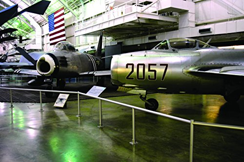 Mig 15 Sabre - A North American F-86A Sabre (left) on display with the Mikoyan-Gurevich MiG-15 in the Korean War Ga
