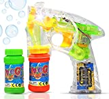 Best Bubble Guns - Haktoys Transparent Bubble Gun Shooter Light Up Blower Review